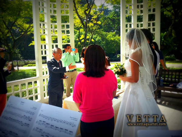 Wedding Solemnisation at Botanic Gardens Bandstand