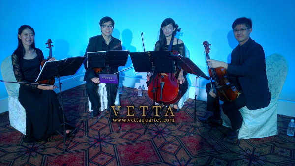 String Quartet for Corporate Event at Raffles Hotel