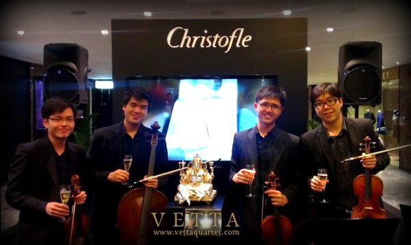 String Quartet for Christofle Singapore