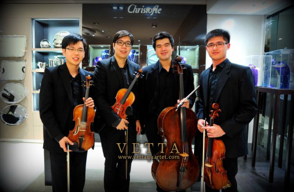 String Quartet for Christofle Singapore at Hilton
