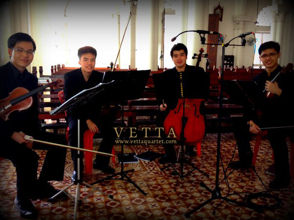 String Quartet for Wedding at Nativity Church Singapore