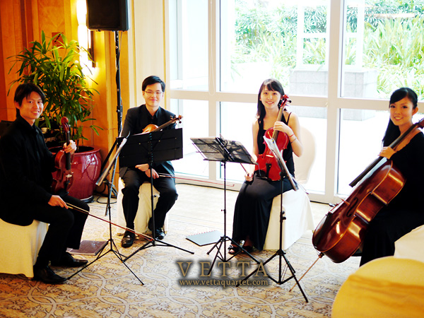 Quartet at Ritz Carlton Singapore Wedding