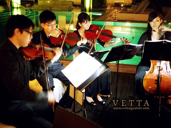 Wedding String Quartet at Grand Hyatt, Oasis Restaurant, Singapore