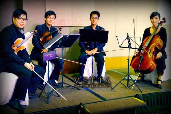 String Quartet - Wedding at Capella Singapore