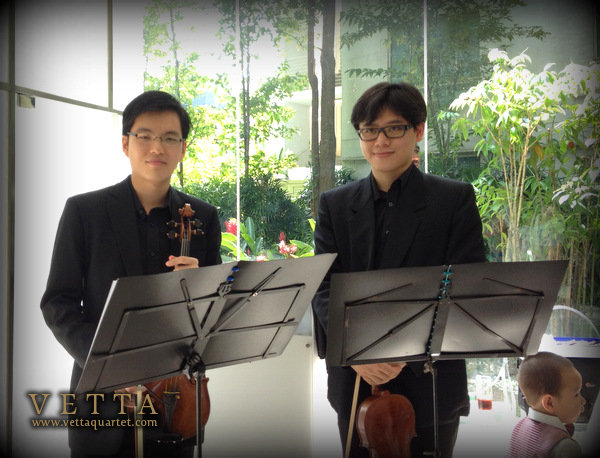 Violin Duet at Amara Sentosa