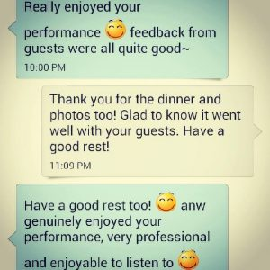 string quartet singapore - testimonial