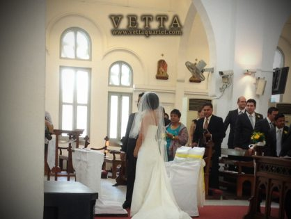 Wedding at Church of St Teresa