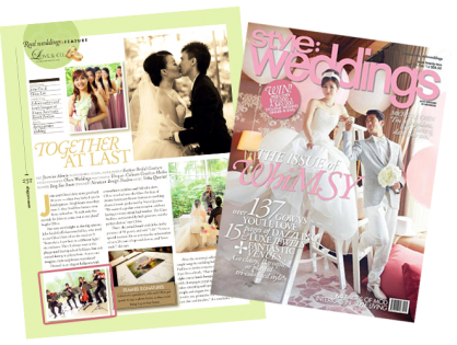 PRESS Feature: Mediacorp's Style: Weddings