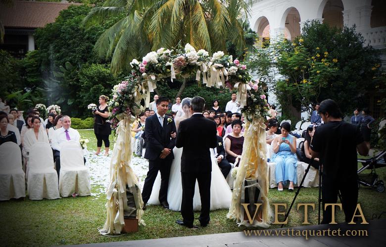 Wedding quartet - Raffles Hotel Singapore