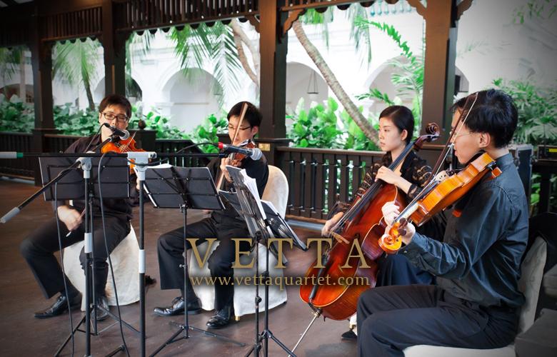 raffles hotel the lawn wedding string quartet
