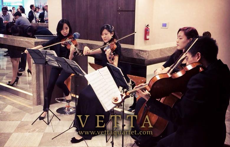 String Quartet at Servcorp Singapore - Marina Bay Financial Centre Floor Expansion Opening Celebration