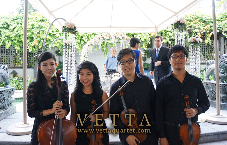 Wedding Solemnisation - Wedding Dinner - Fullerton Hotel Singapore - Quartet Music