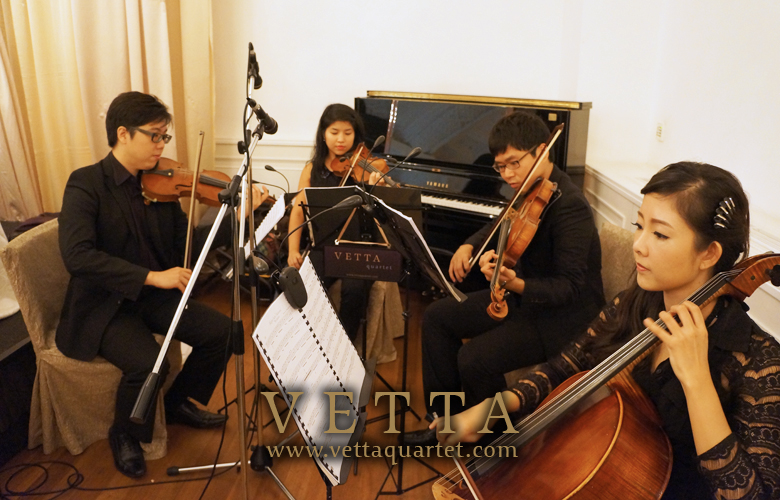 Wedding Solemnisation - String Quatrtr - Fullerton Hotel Performance