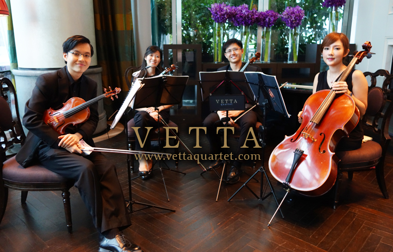 String Quartet at The Fullerton Bay, Clifford Restaurant
