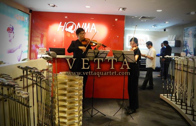 Violin Duo at Honma Golf @ Wheelock Place