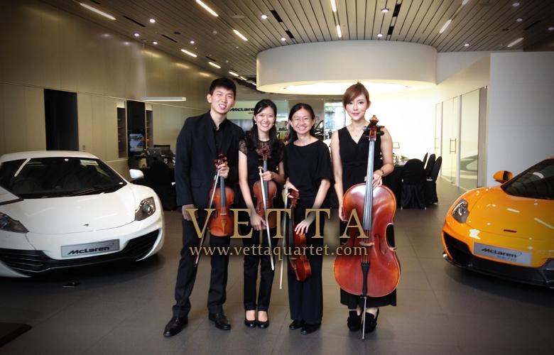 String Quartet at McLaren Showroom Singapore