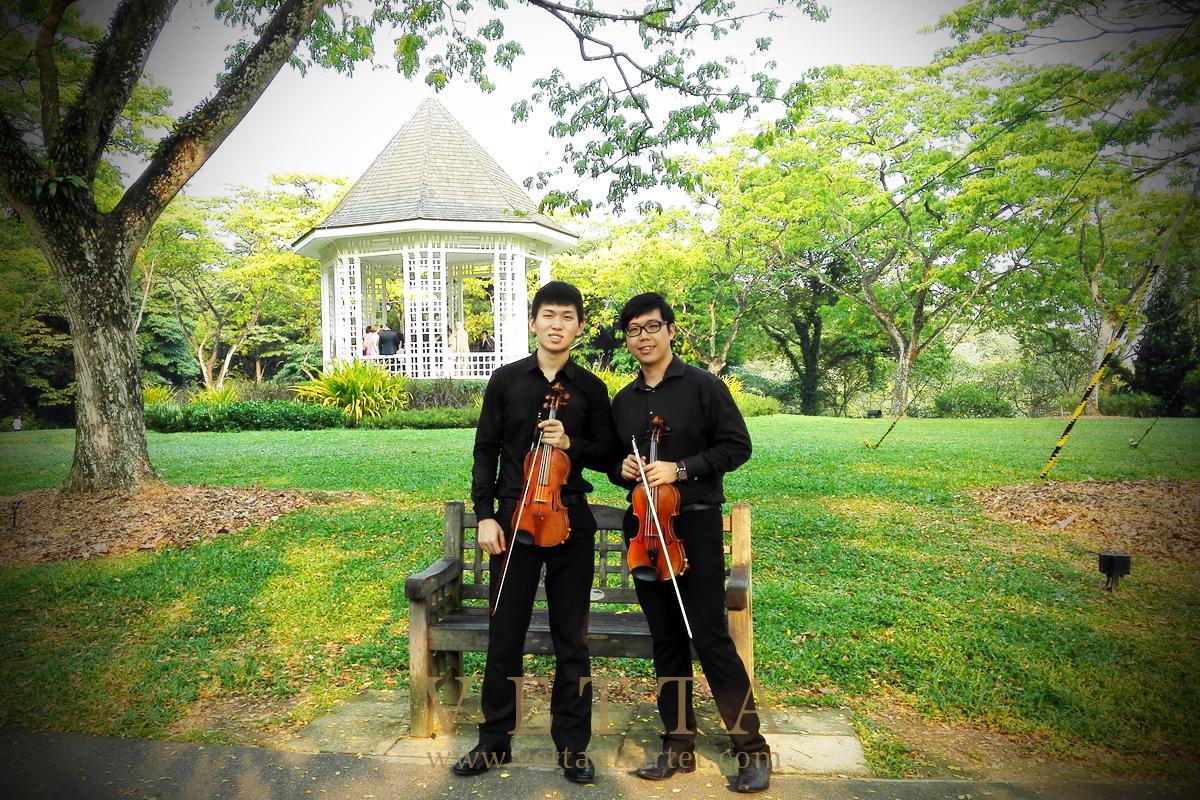 Violin Duo for Wedding at The Halia
