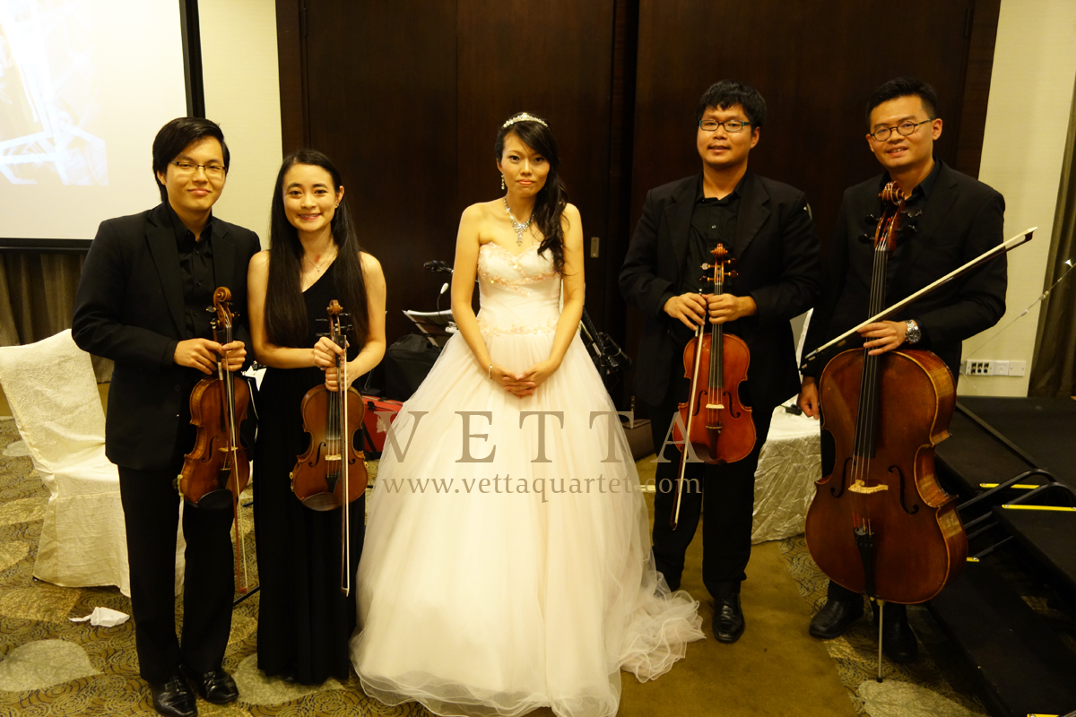 String Quartet for Wedding Banquet at Grand Copthorne Waterfront Hotel