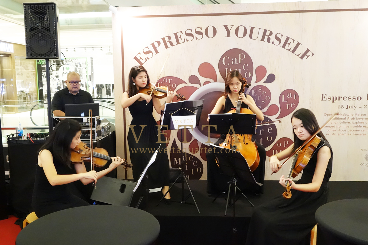 Esta Quartet for Espresso Italiano - Coffee Exhibition