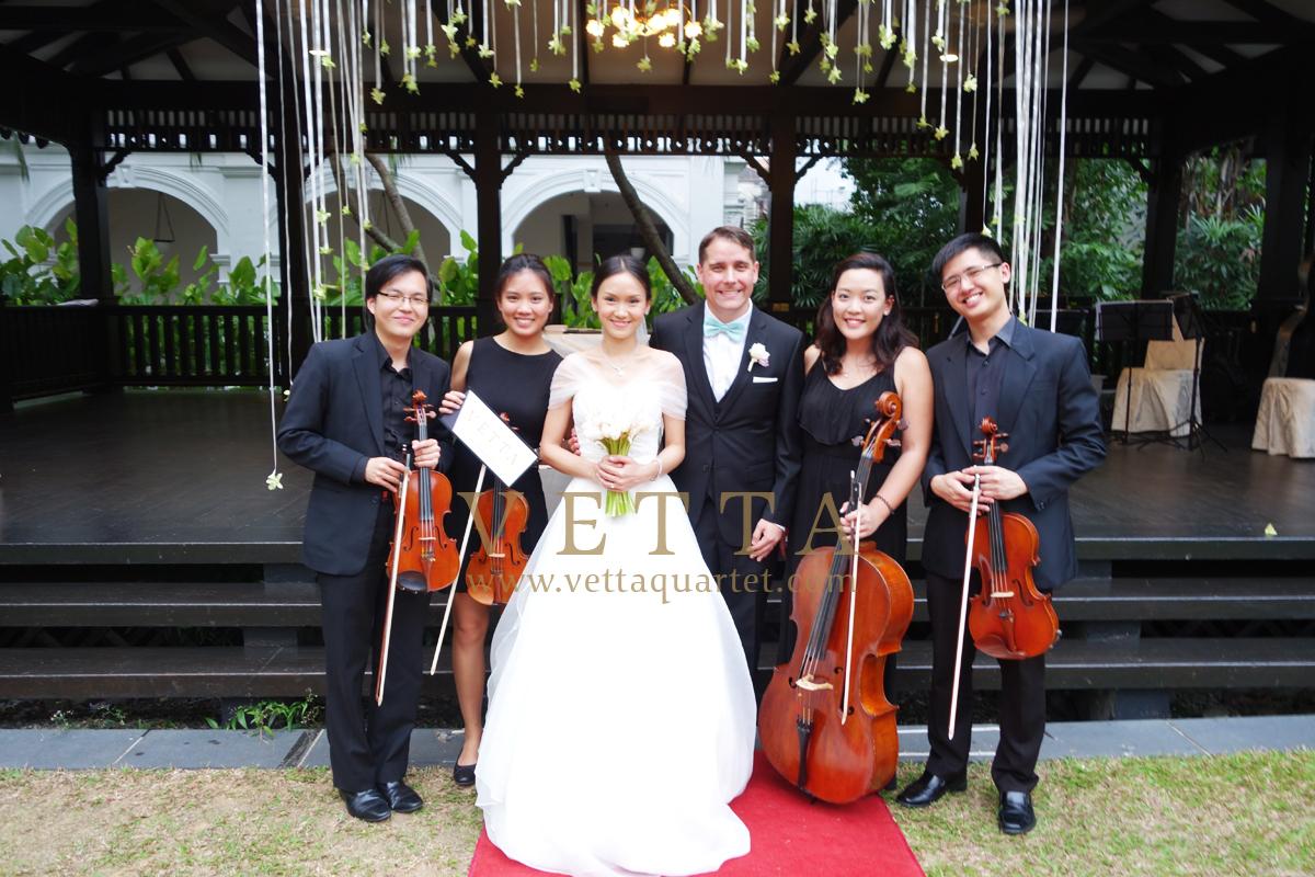 Wedding at Raffles Hotel The Lawn