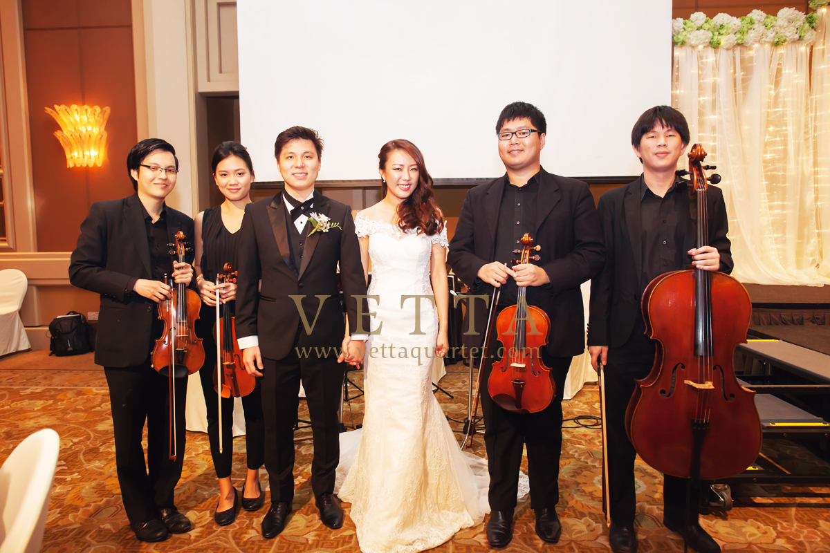 String Quartet Wedding Music Conrad Singapore