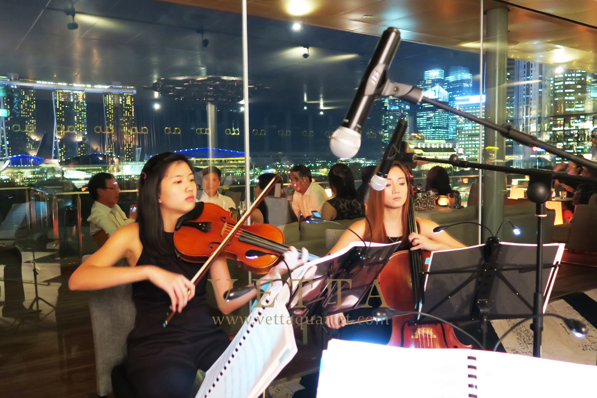 String Quartet for Jones Day at Aura Sky Lounge, National Gallery Singapore
