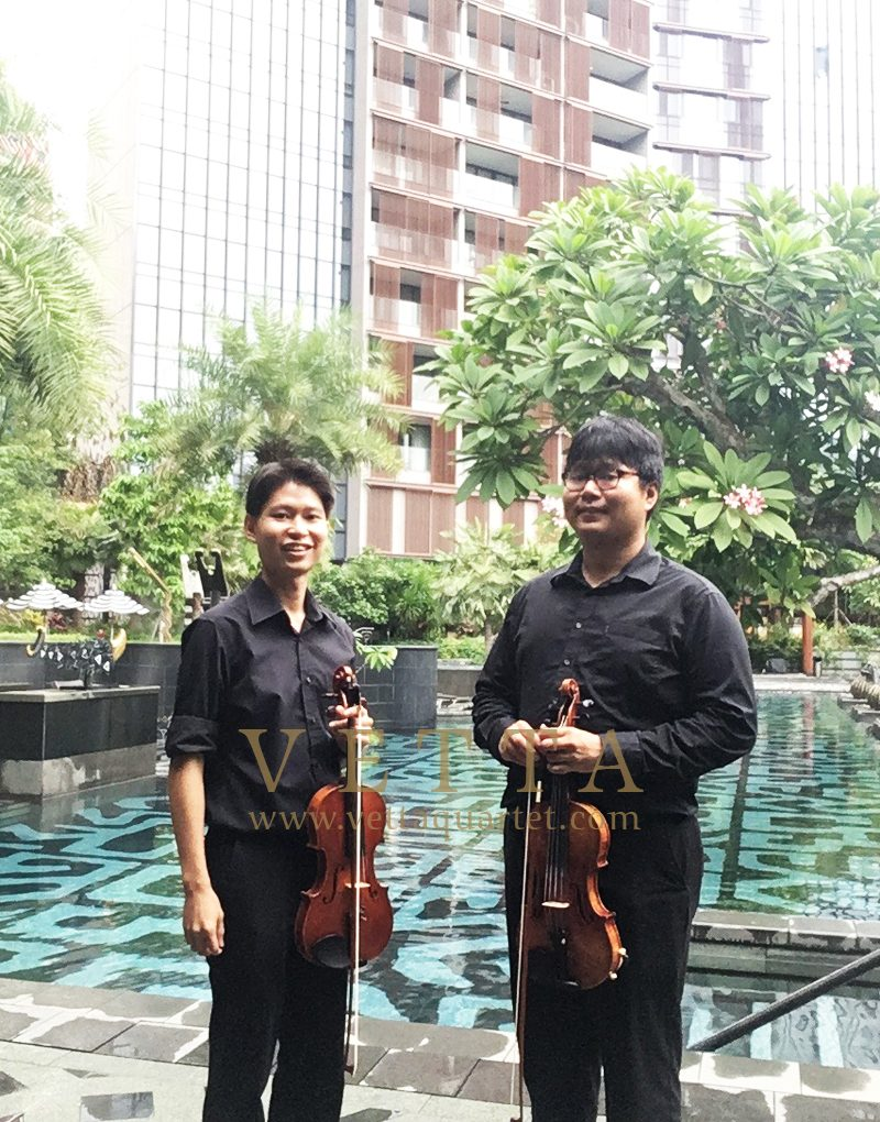 Violin Duo for Launch of OUE Twin Peaks