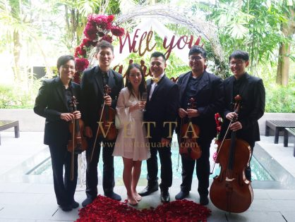 Wedding Proposal at Villa @ Capella
