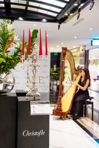 Harpist for IKEBANA Event at Christofle Singapore