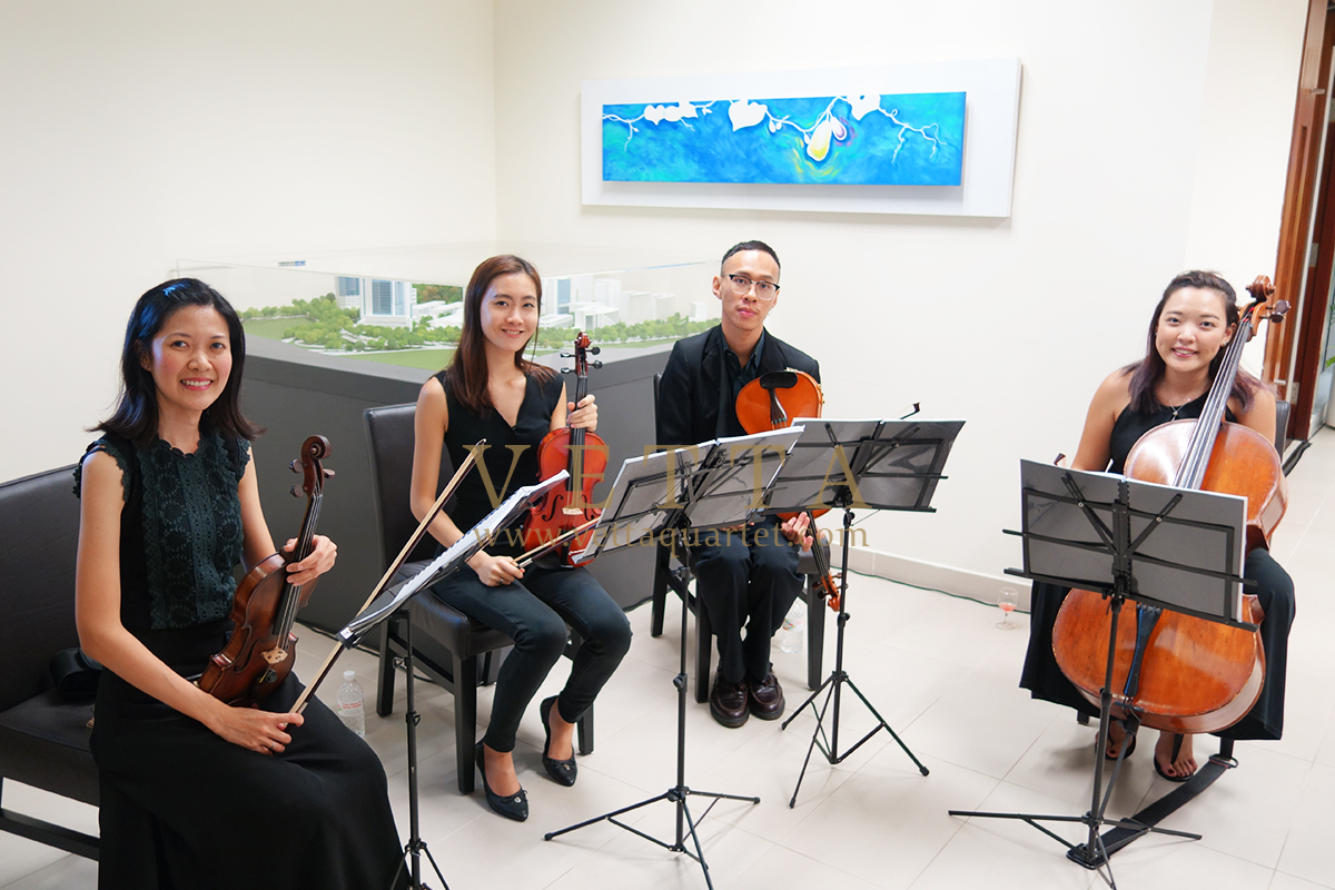 String Quartet at NUHS Appreciation Event