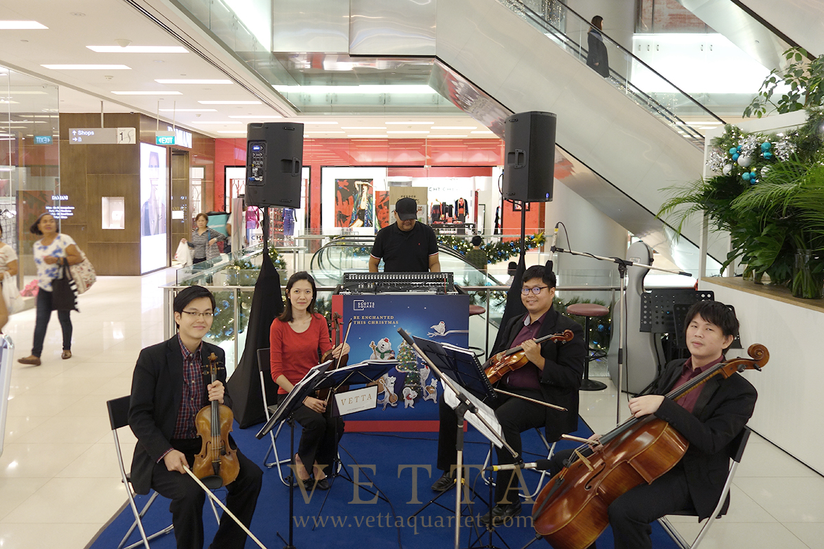 Xmas public string quartet performance singapore