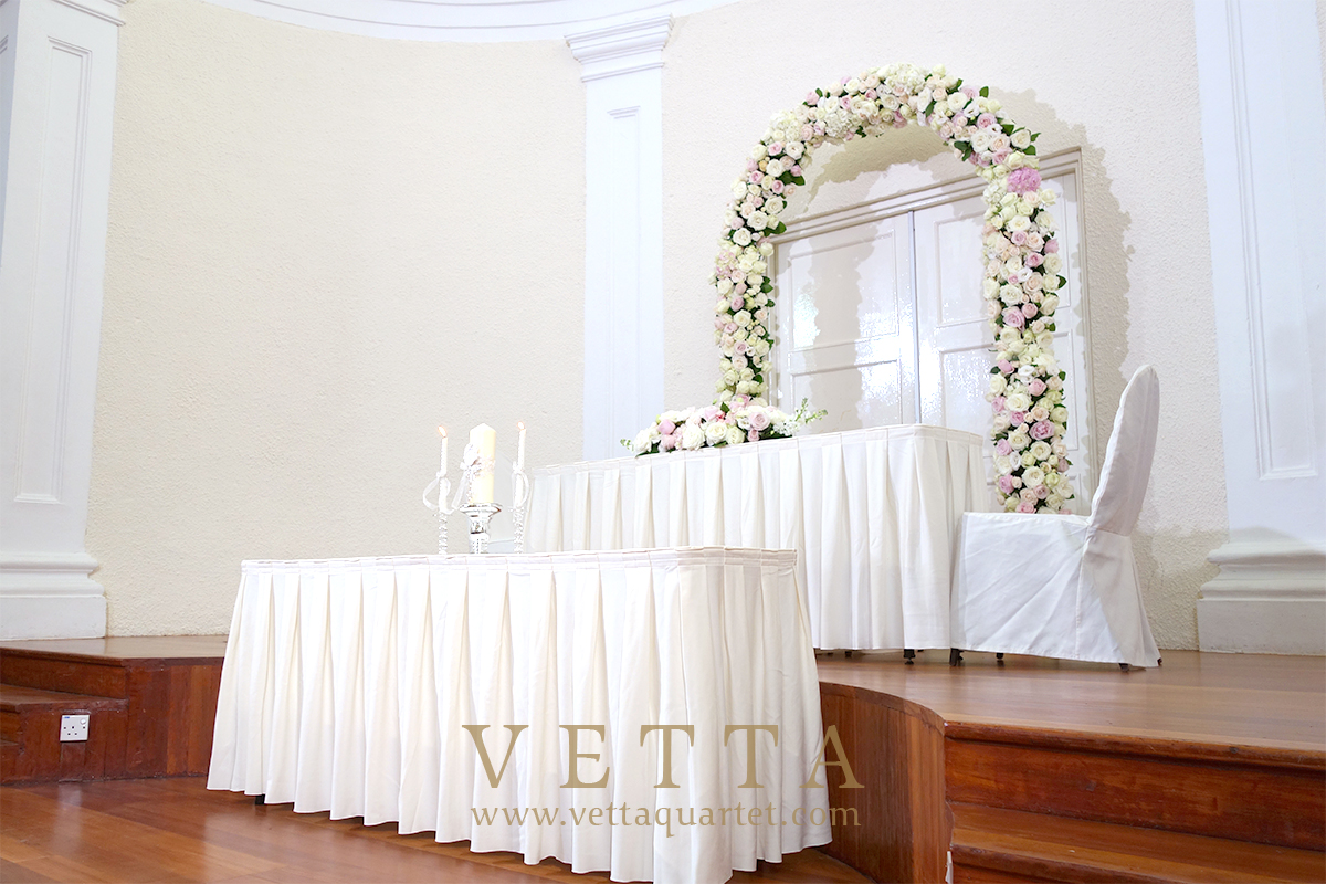 VETTA Quartet for Wedding at Chambers of the Arts House