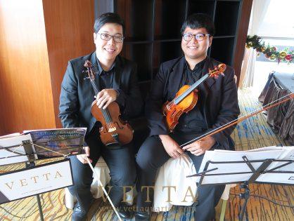 Violin Duo for Vincent's Wedding at Swissotel Sky Suites