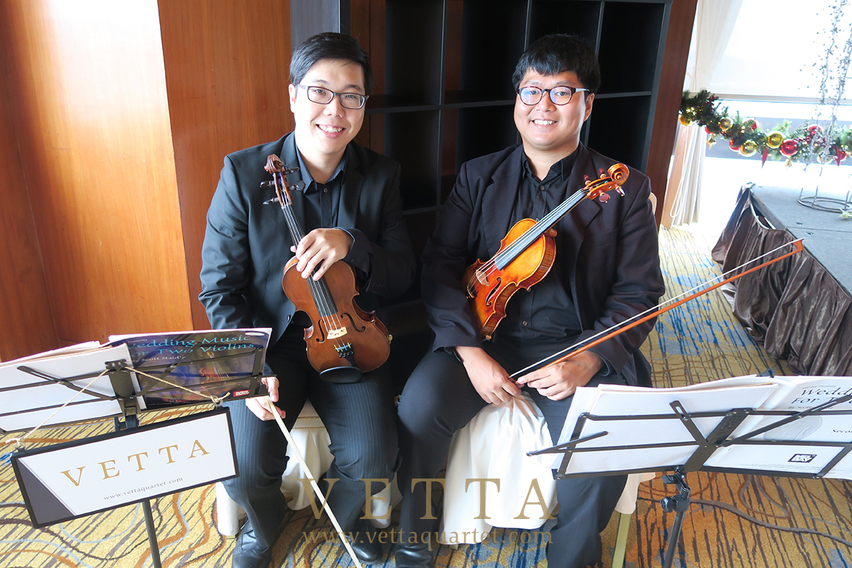 Violin Duo for Vincent's Wedding at Swissotel Sky Suites