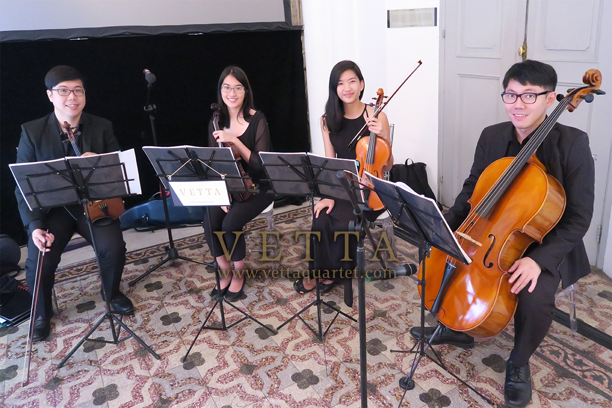 String Musicians for Product Launch of Lovemarque at CHIJMES