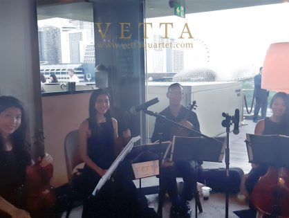 String Quaret for Corporate Dinner at Aura Sky Lounge