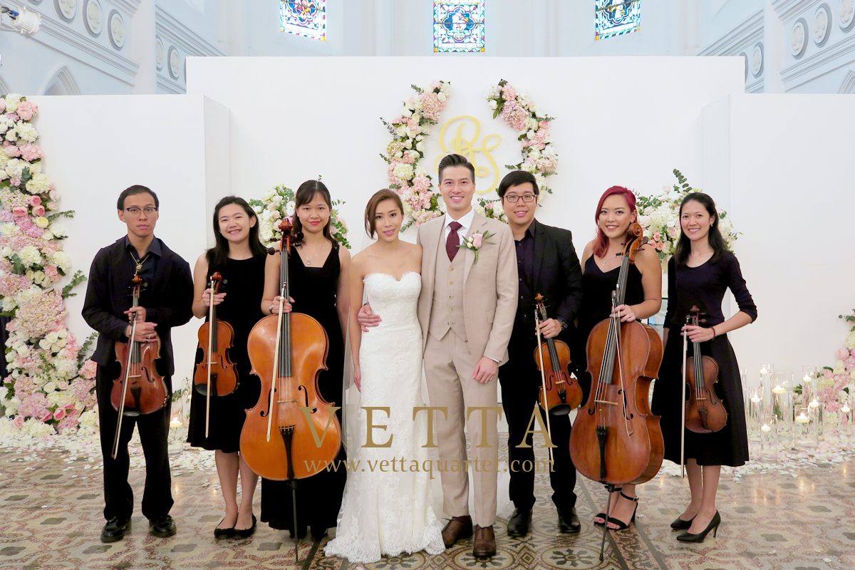 String Sextet Music for Grand Wedding at CHIJMES