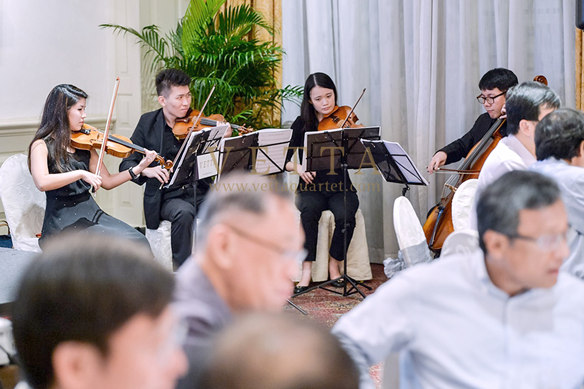 String Quartet of dinner event by Ministry of Transport Singapore
