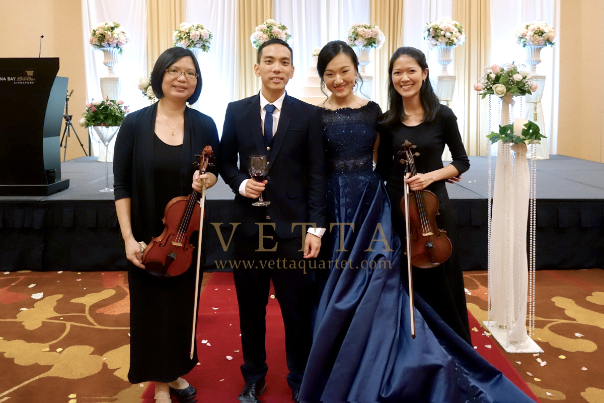 Violin Duo for Wedding Dinner at Marina Bay Sands