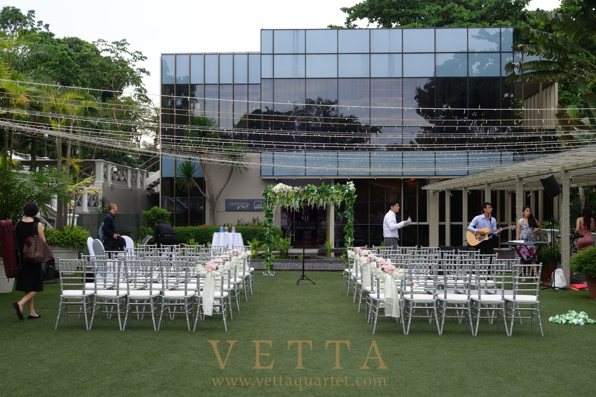 Live Musicians for Laura's Wedding at Hotel Fort Canning, Outdoor Marquee and Outside Lavender ballroom