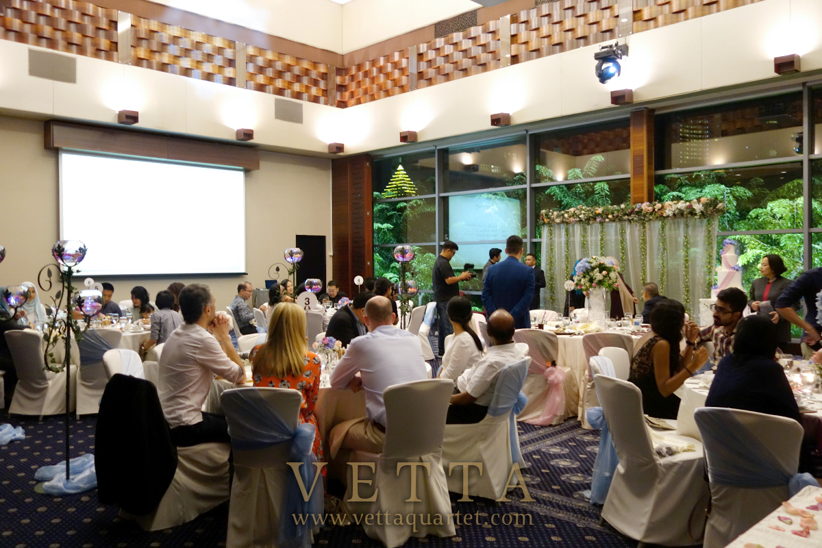 String background music for wedding Banquet at Royal Plaza on Scotts
