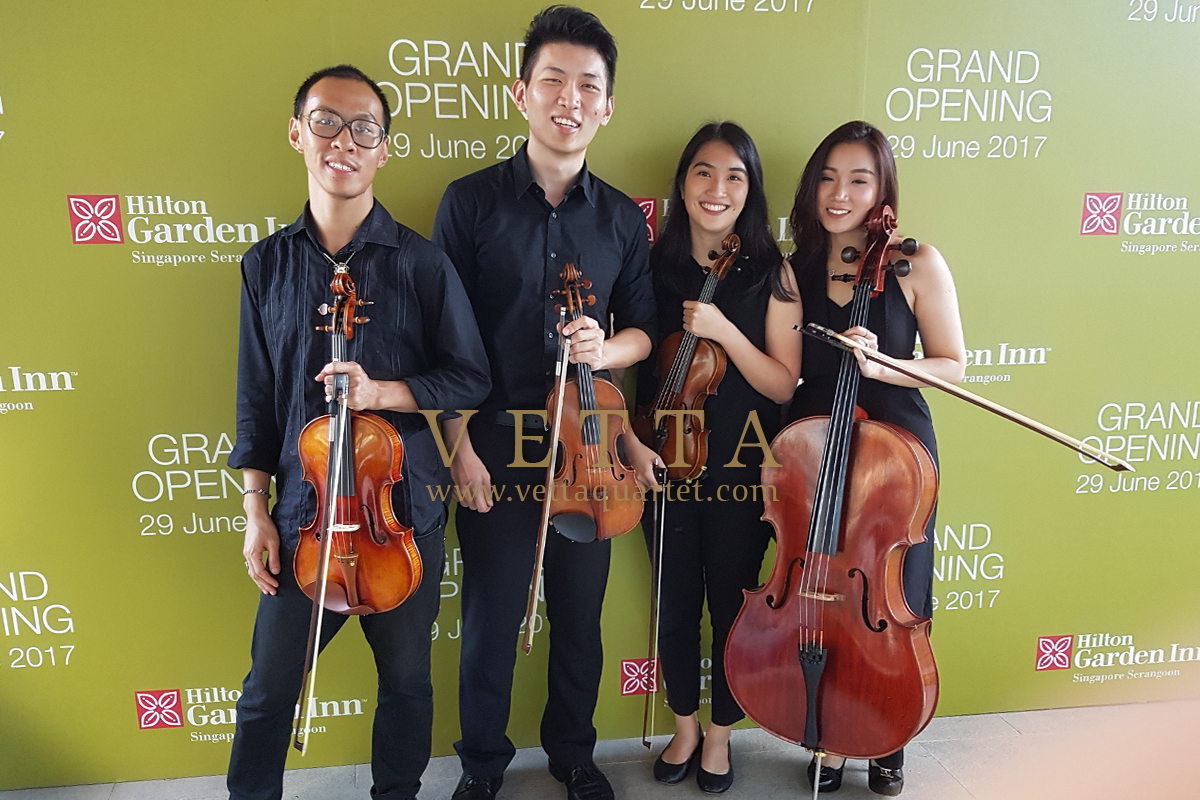 String Musicians for Hilton Garden Inn's corporate event