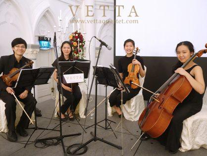 String Quartet for Angeline's Wedding at CHIJMES