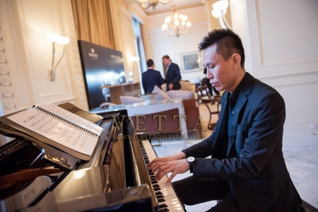 Jazz Piano playing for Greubel Forsey Time pieces dinner event