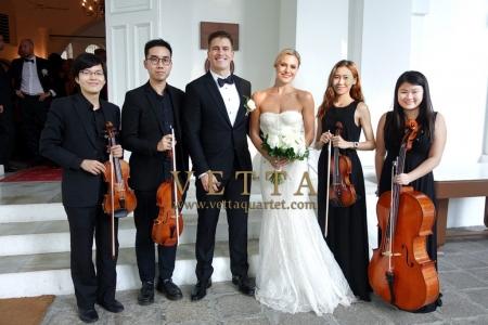 Live String Quartet Music for Wedding solemnization at Armenian Church