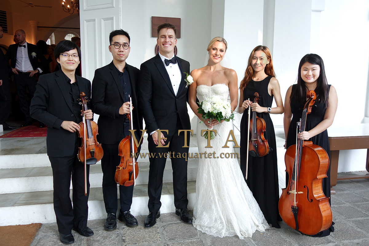 Live String Quartet Music for Wedding solemnization at Armenian Church