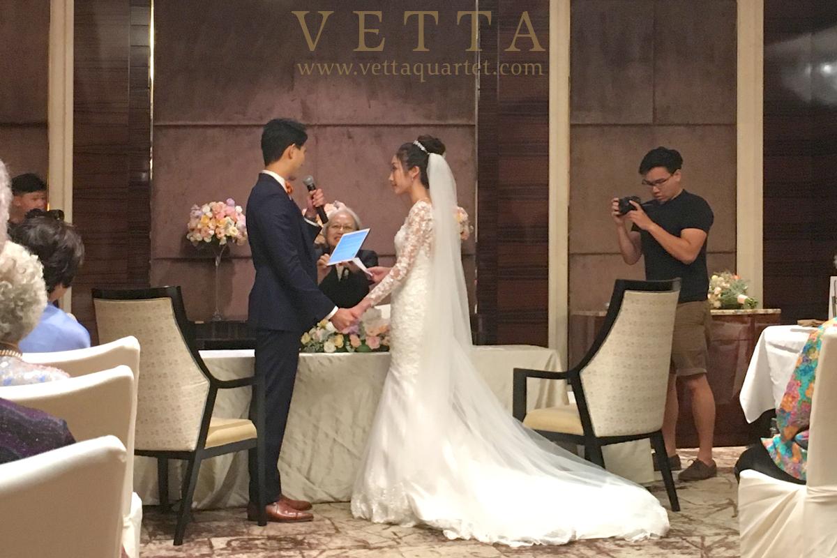 Live String Music for Wedding solemnization at St Regis Singapore