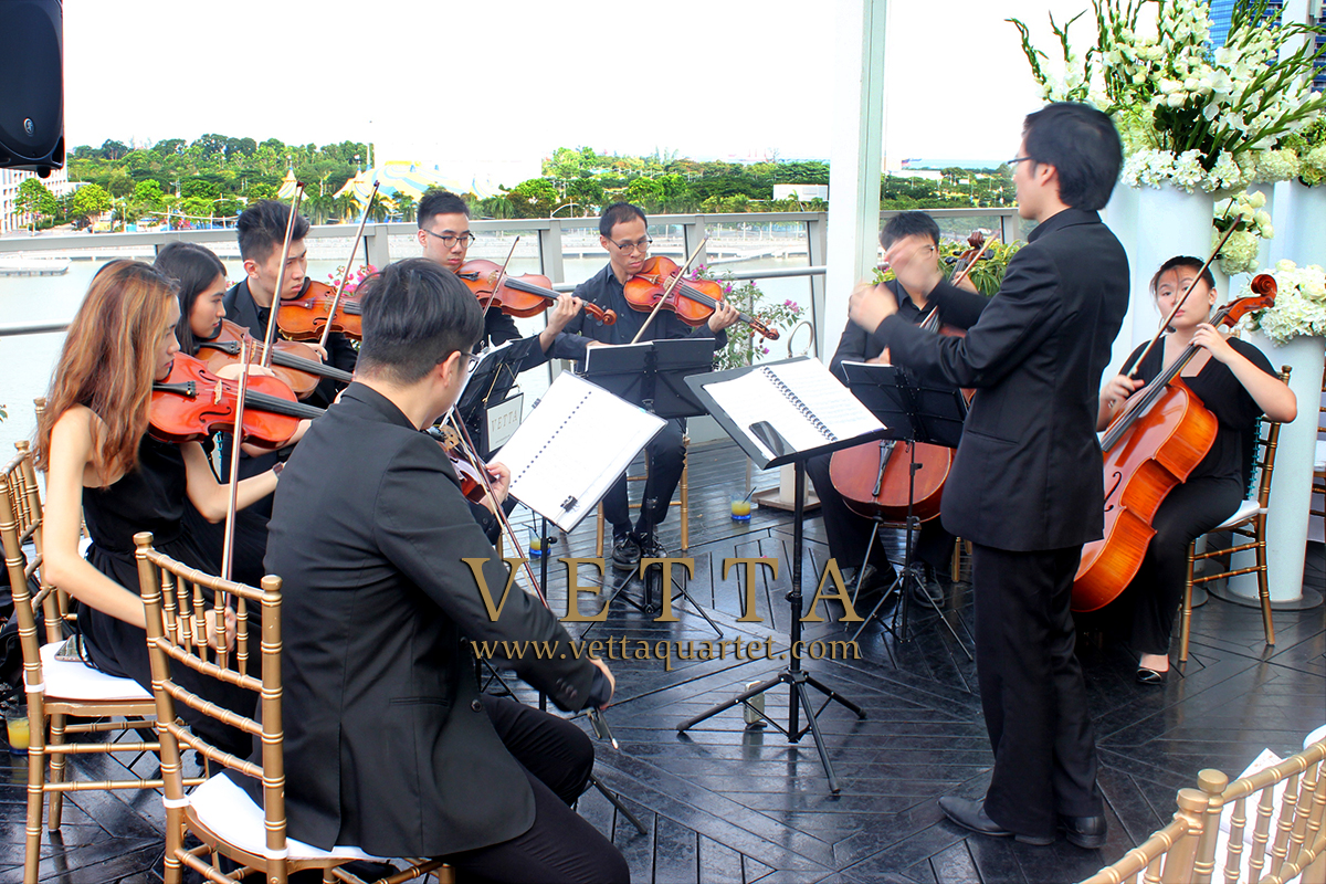 String Ensemble for Stephanie and Mingyou's Wedding at Fullerton Bay Hotel