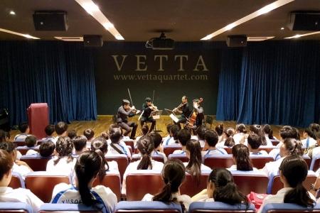 String Quartet Educational Outreach at Yusof Ishak Secondary School