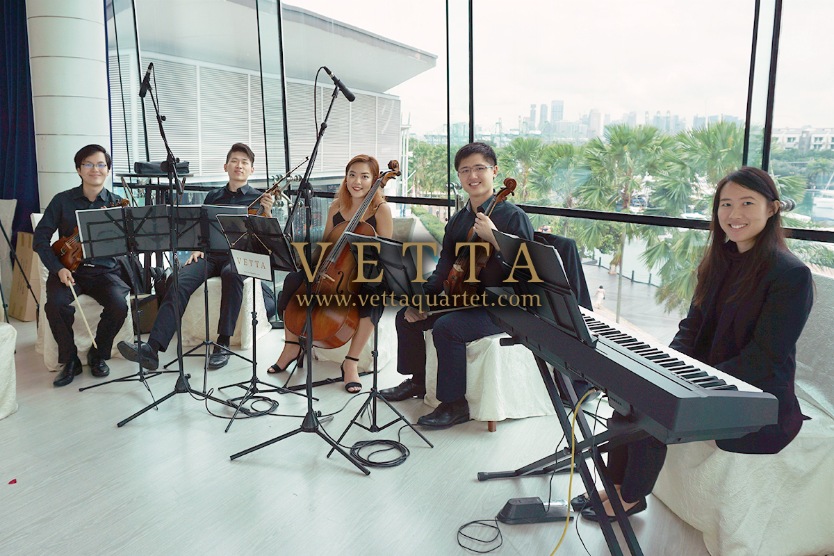 String Quartet with Piano for Wedding at ONE°15 Marina Club